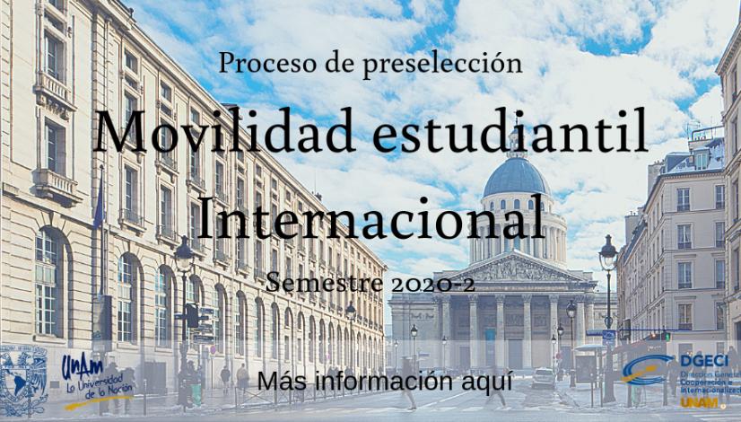 Proceso de Preselección Movilidad estudiantil Internacional